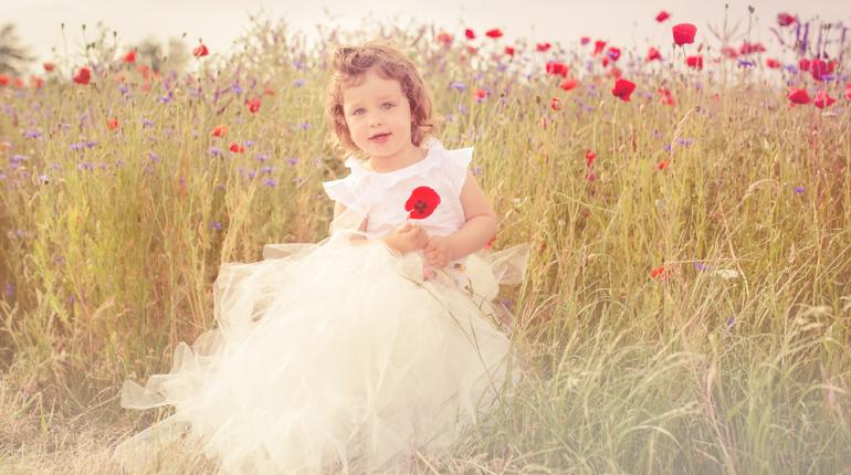 Prinzessinenfotos – Kinderfotografie im Mohnfeld (Bruchsal)