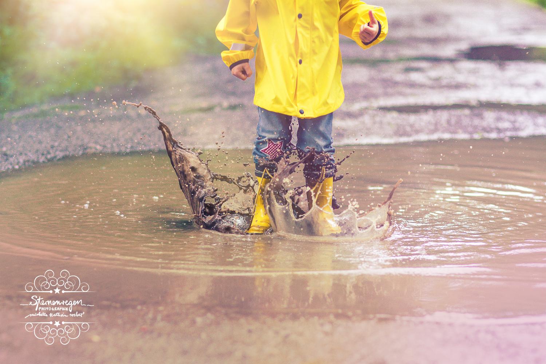 Regenfotos mit Kind