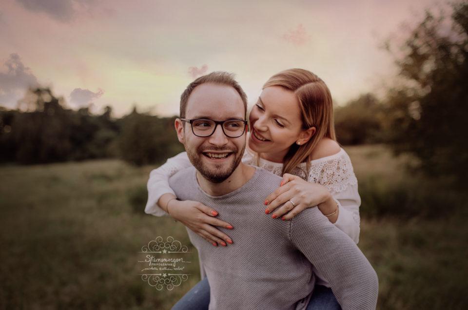 Paarshooting vor der Hochzeit für Einladungskarten – Engagementfotoshooting in Bruchsal