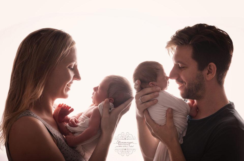 Neugeborenenshooting mit der ganzen Familie