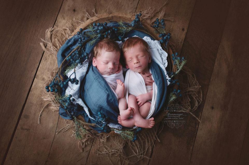 Aus 2 wird…..4! Newbornshooting von Zwillingen