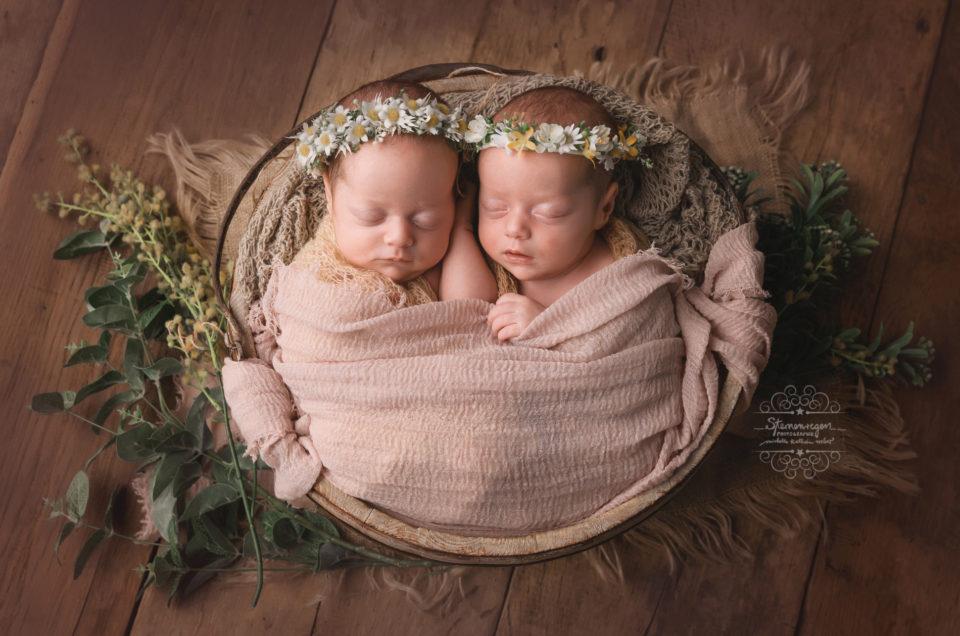 Zwillinge zu Besuch bei Sternenregen Photographie