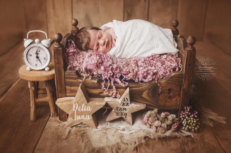 Geburtskarten bei Sternenregen Photographie