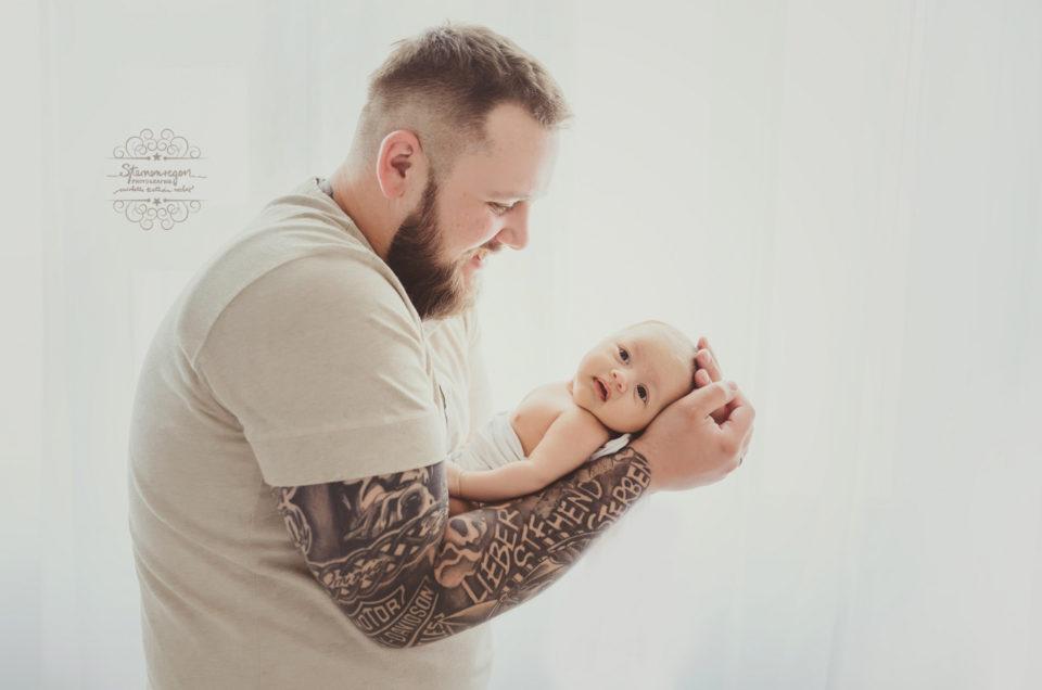 Neugeborenenfotografie- Mein erstes Fotoshooting mit Papa