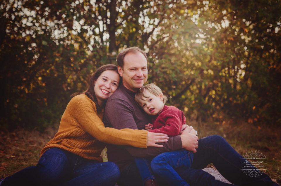Natürliche Familienfotografie bei Sternenregen